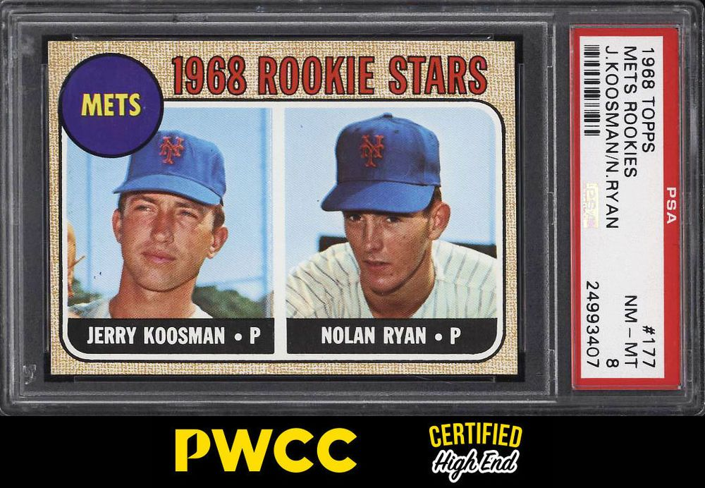 1968 topps nolan ryan rookie rc 177 psa 8 nmmt pwcche