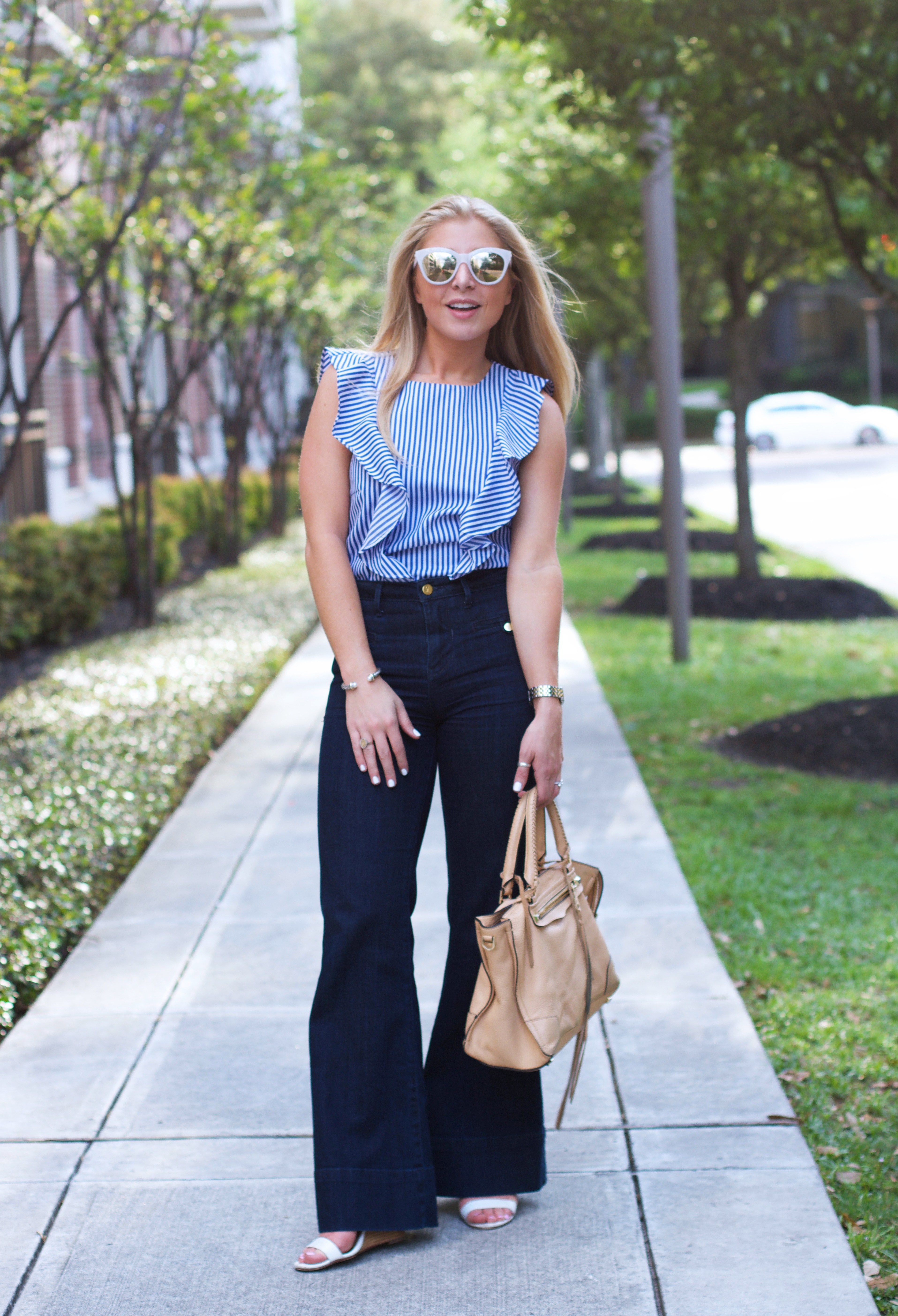 c3c12071d9170 Wide Leg Jeans · Blue Tops · Spring Fashion 2017 Nordstrom Sunglasses