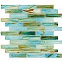 "Turquoise 1"" x 4"" Blue Glossy Glass Tiles"