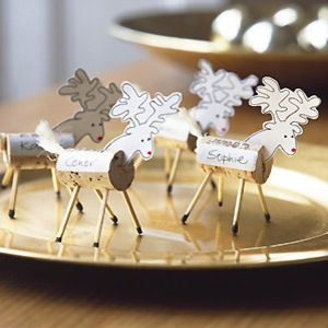 Pp Make Reindeer Christmas Table Place Cards