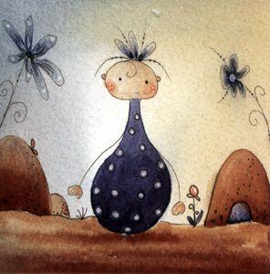 doodle watercolor florina nils by Martina Loos, via Flickr