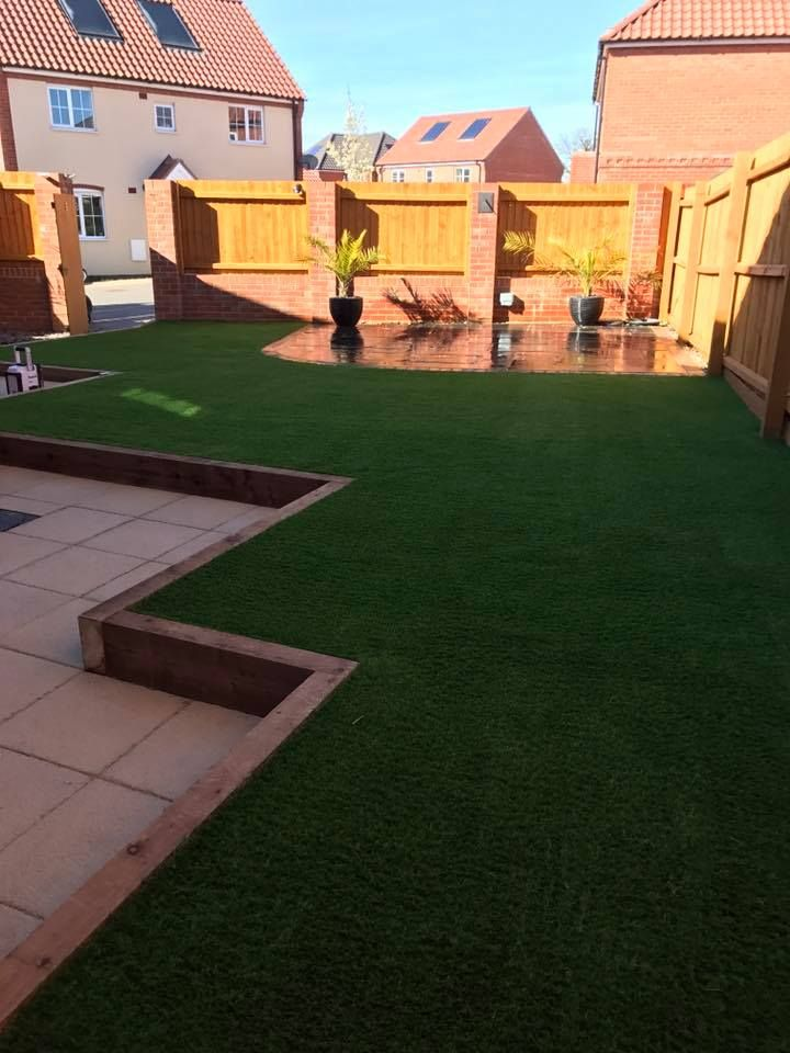 how to install fake grass on balcony
