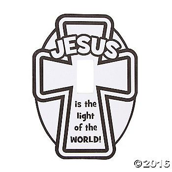 each cover is imprinted with jesus is the light of the world includes adhesive tabs