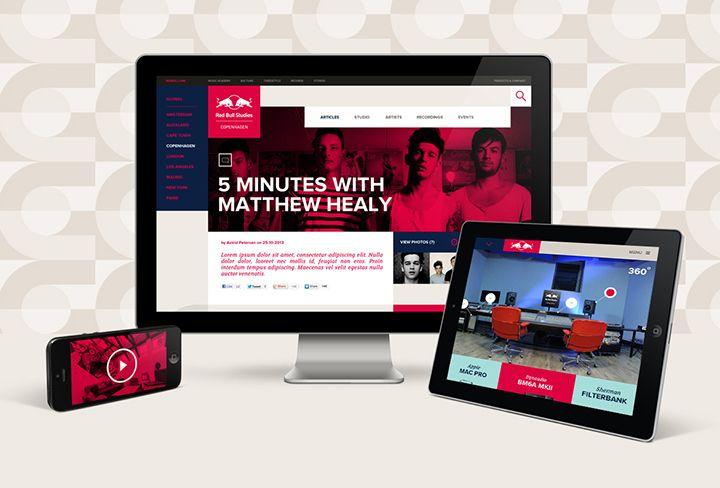 Momkai ontwikkelt de nieuwe identiteit voor Red Bull Studios