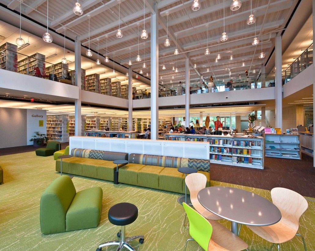 Plainsboro public library lighting design by kugler ning lighting