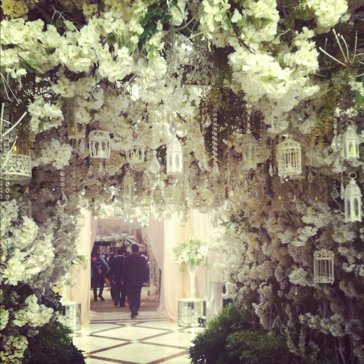 Over the top wedding decorations  beautiful flowers everywhere  gargeous decoration  Pinterest