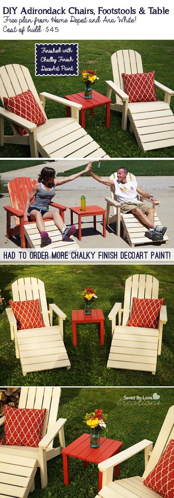 DIY Adirondack Outdoor Furniture Plan | Projects | Pinterest ...
