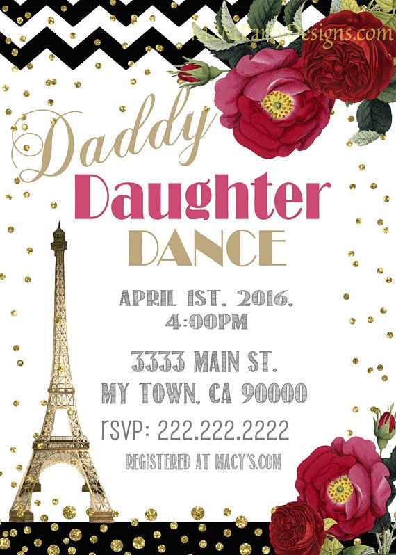 An Evening in Paris Church Community Event pto pta Daddy
