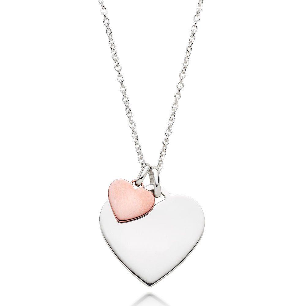 Pin by simone tessari on joyas pinterest pendants rose and beaverbrooks silver and rose gold plated double heart pendant aloadofball Gallery