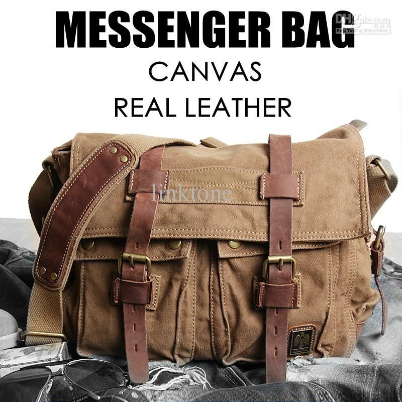 Brad Pitt Canvas Large Messenger Bag Shoulder Bag Sling Bag Man ...