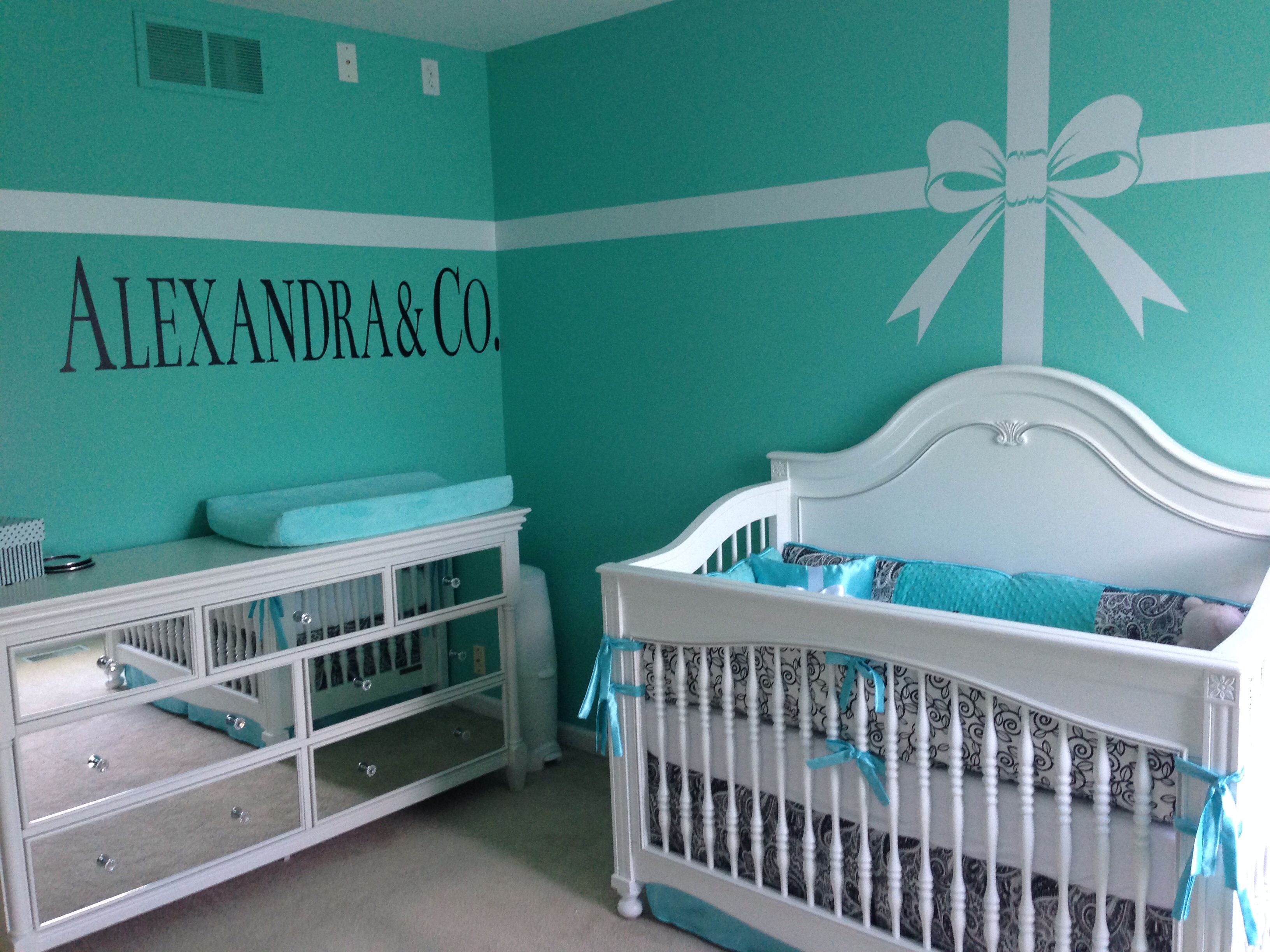 Baby Girl' Tiffany Themed Nursery. Decal And Dresser