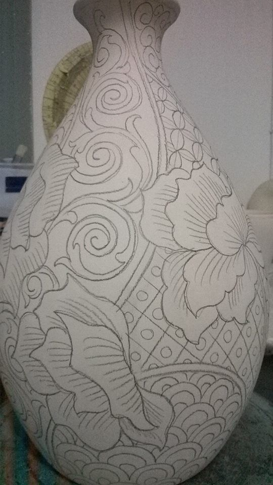 Cicek Desenli Vazo Vazolar Desenler Mozaik Fayans
