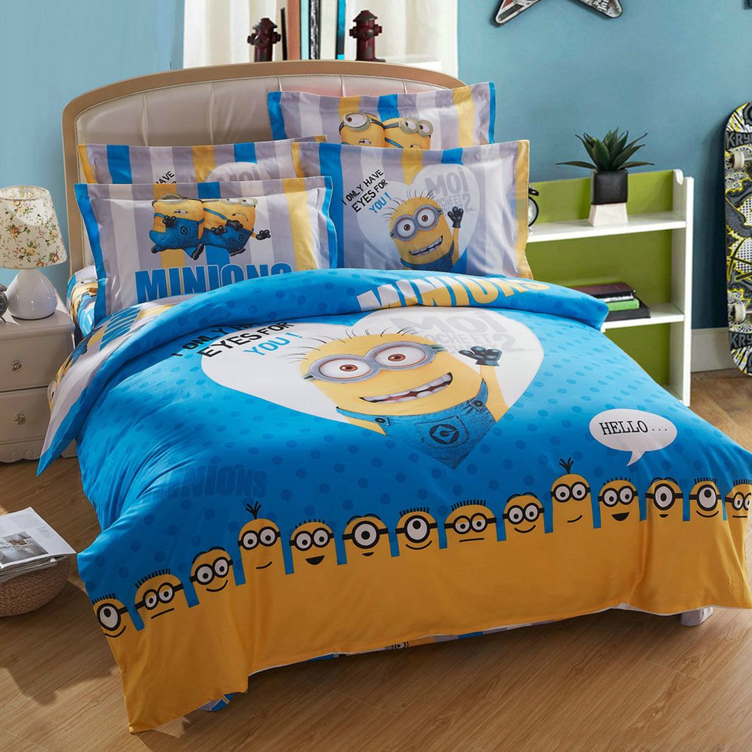 Bedroom Sets Queen Size Beds minion bed set queen king twin size | bed sets, twins and queens