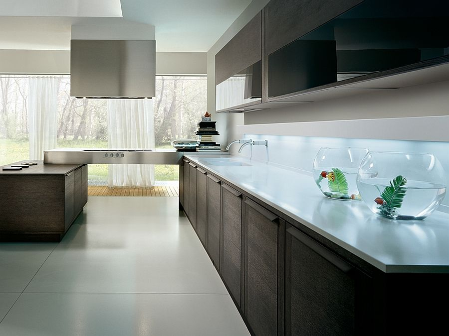Trendy Contemporary Kitchen With