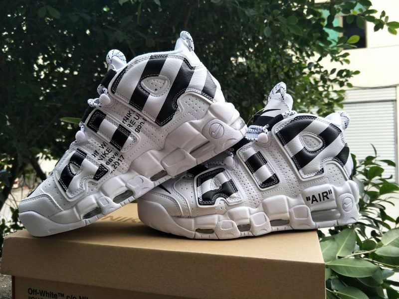 2018 New Off-White x Nike Air More Uptempo White Black   Nike x OFF ... 053751d0398c