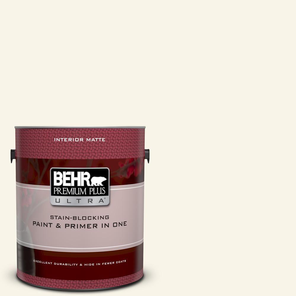Behr Premium Plus Ultra 1 Gal Pwn 21 Fragrant Jasmine Matte Interior Paint And Primer In One Interior Paint Behr Ultra Behr Premium Plus Ultra