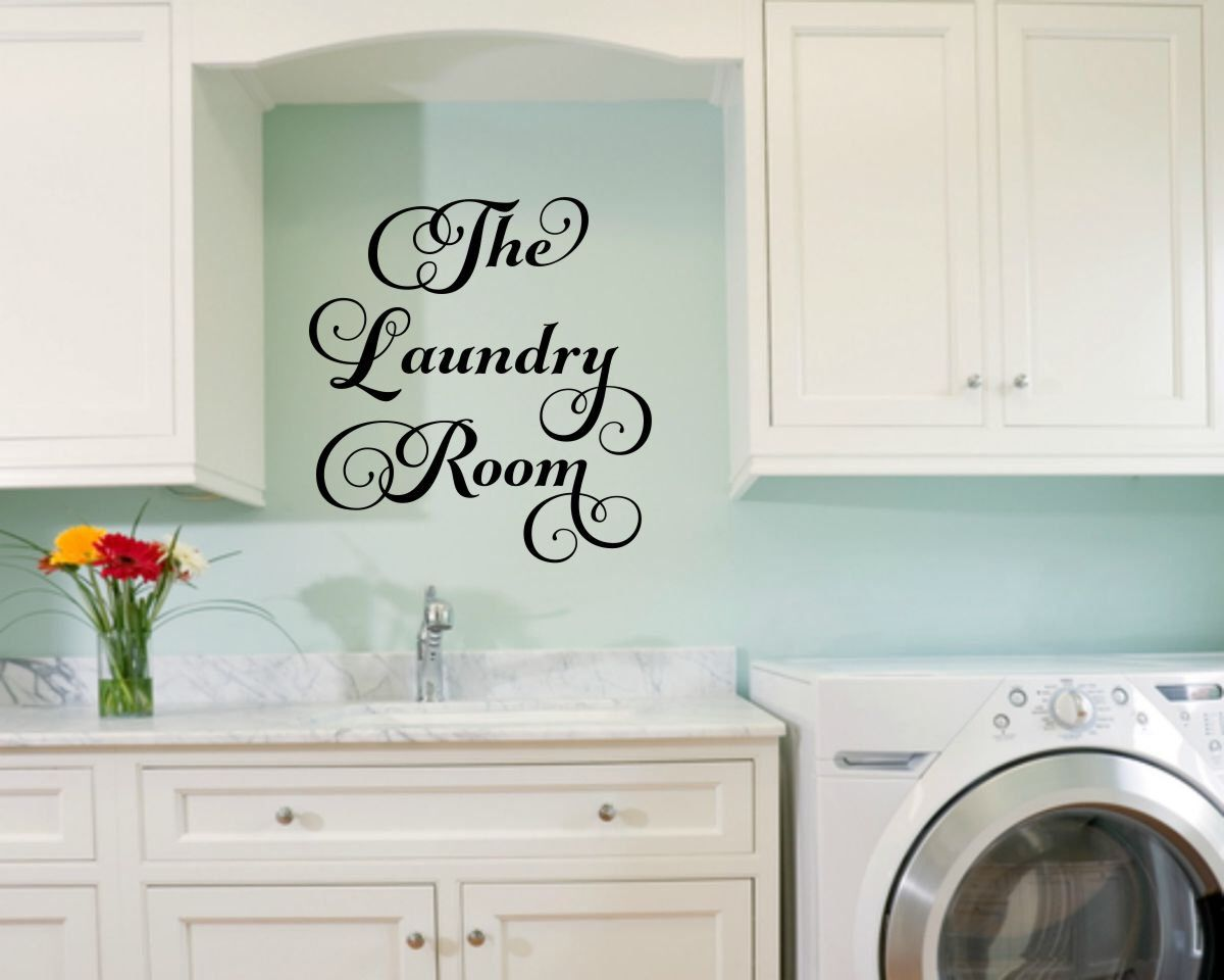 Laundry Vinyl Decal Laundry Room Decal Laundry Wall Decal Laundry Vinyl Decal Laundry