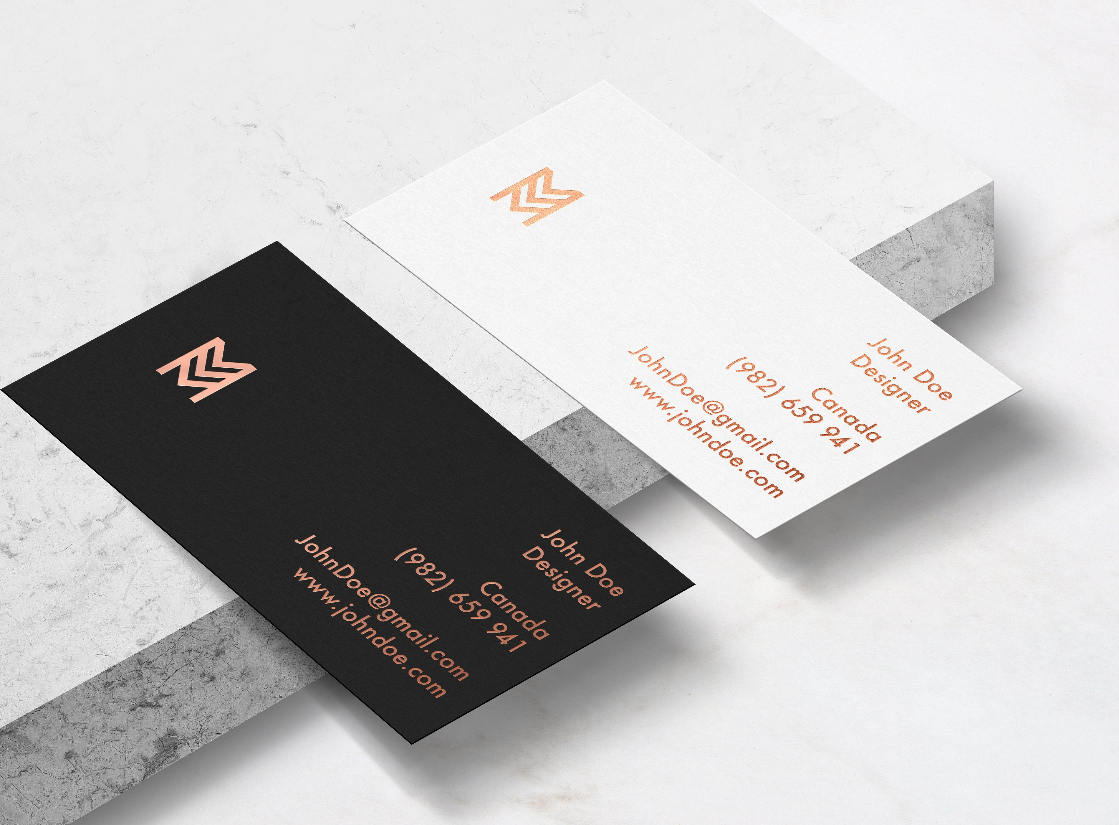 Elegant business card mockup product mockups 1 abstract business cards reheart Choice Image