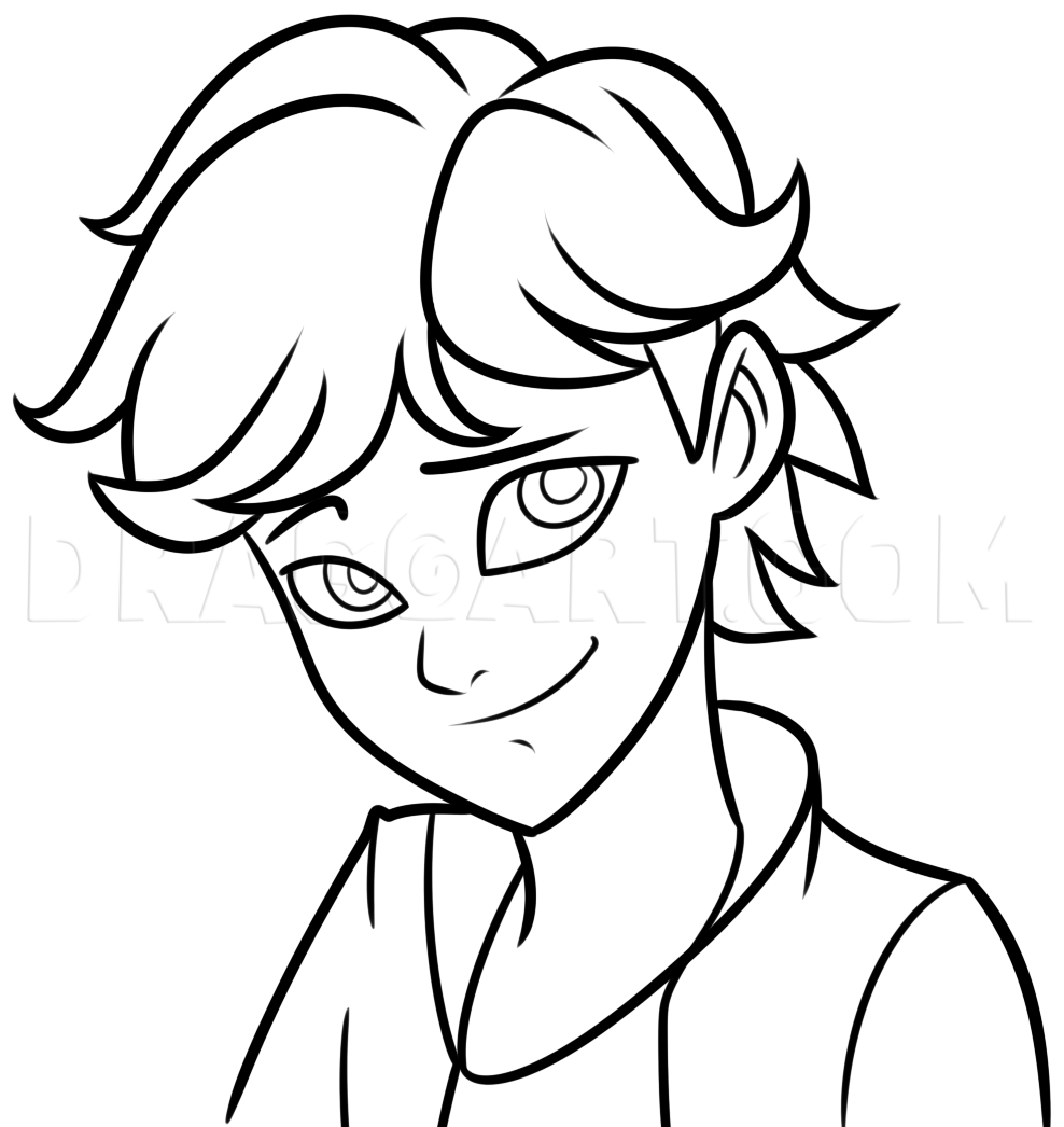 Draw Adrien Agreste Step By Step Step By Step Drawing Guide By Dawn Dragoart Com Ladybug Coloring Page Miraculous Ladybug Anime Easy Drawings [ 1046 x 988 Pixel ]