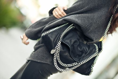 Leather and chains.