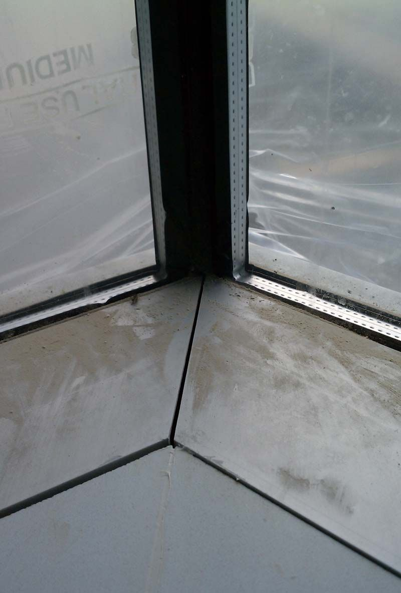 Silicone Joint At Curtain Wall Window Corner From The