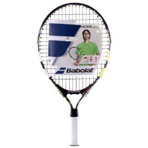 Babolat Nadal 19 Junior Tennis Racquet Black Yellow By Babolat 29 95 The Babolat Nadal Junior Tennis Racket Is An Aluminium Fr Tennis Tennis Racket Sports
