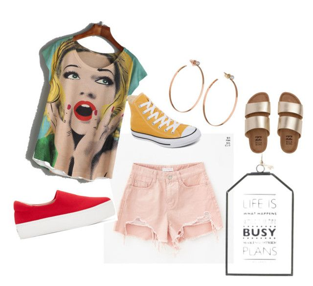 """""""Fabulous"""" by kialynae on Polyvore featuring Lana Jewelry, Converse, Opening Ceremony and Billabong"""