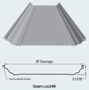 Seam Loc24 Structural Standing Seam Metal Roof Panel Metal Sales Manufacturing Corporation Sweets Modern Roofing Metal Roof Panels Roof Design