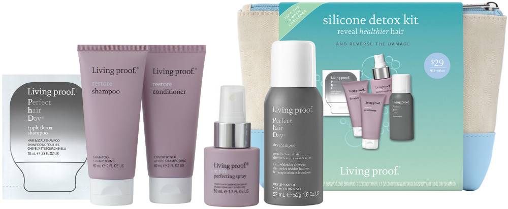 With The Restore Silicone Detox Kit Swap Silicones For Real Science Ideal For Dry Damaged Hair Kit Includes Phd Triple Detox Shampoo Detox Kit Dry Shampoo