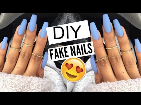 Diy Fake Nails Using Cornstarch No Acrylic Easy Nail Hack For Full Set Or Refill Nia Hope Youtube Diy Acrylic Nails Fake Acrylic Nails Nails At Home