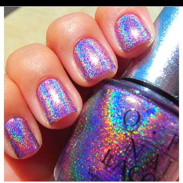 There Are 12 Tips To This Nail Polish Holographic Rainbow Glitter Sparkle Opi Silver Nails Pretty Colorful Jewels Painted Cool
