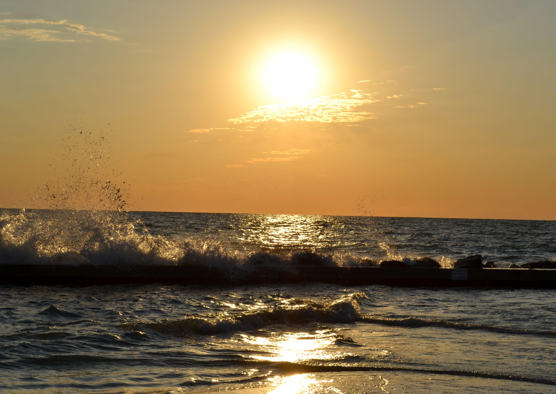 North beach honeymoon island state park florida sunrise and