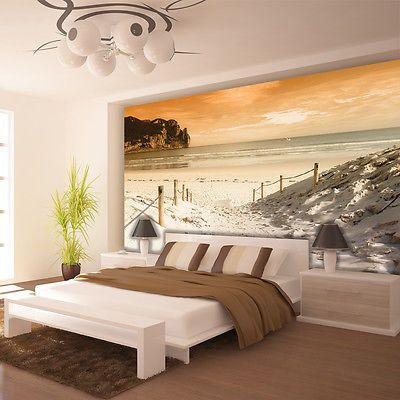 Vlies Poster Wandbild Tapete Fototapete Wasser Meer Strand Sand