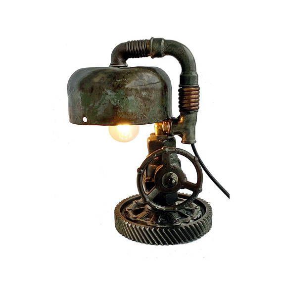 Pin En Industrial Loft Table Lamp Steampunk Light