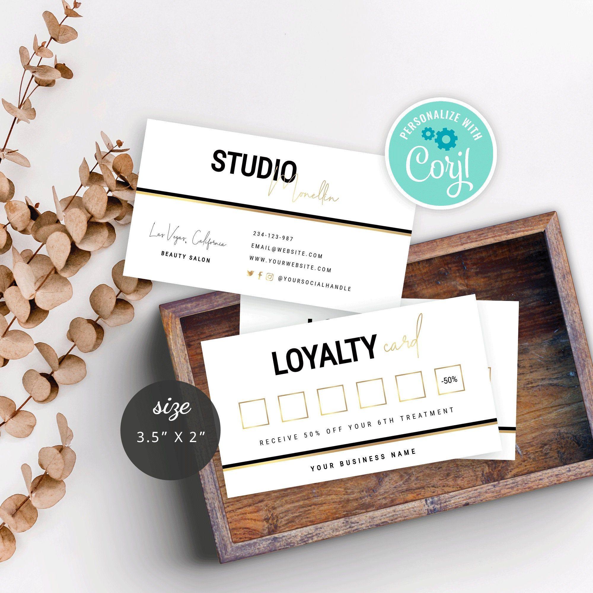Diy Loyalty Card Editable Loyalty Cards Template Printable Etsy Loyalty Card Template Diy Loyalty Cards Card Templates Printable