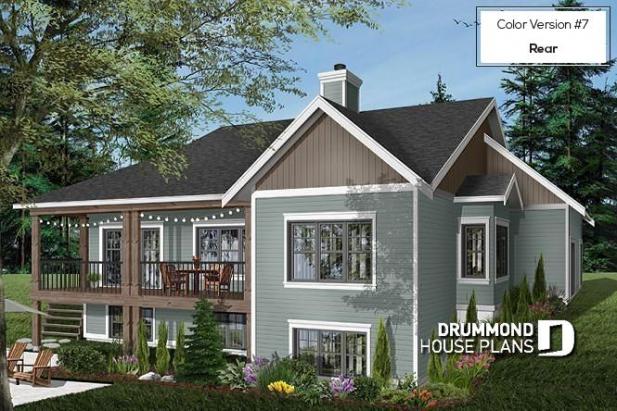 Color Version 7 Espectacular Casa Del Lago Posterior Con Sotano De Salida Craftsman De 4 Dorm In 2020 Modern Farmhouse Plans Cottage House Plans Drummond House Plans