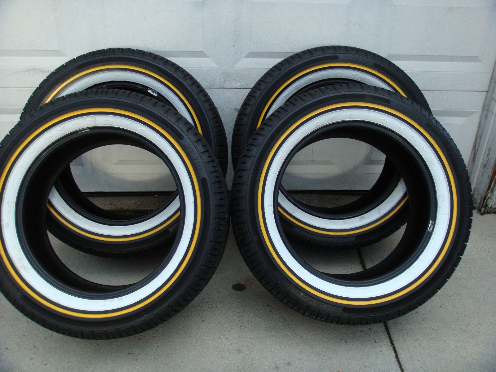 Mayonaise And Mustard Vogue Tires Tyres White Gold Used