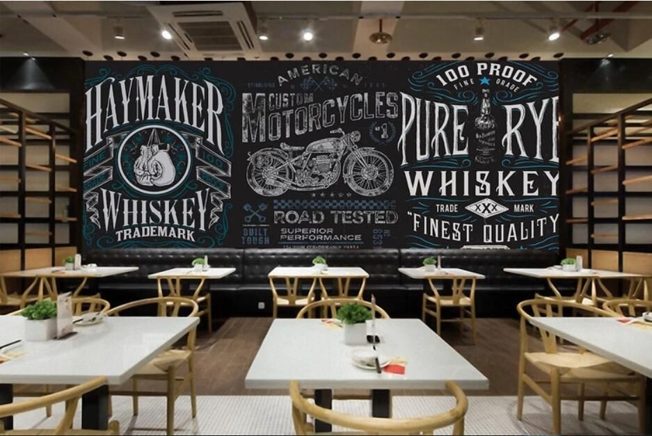 Custom Wallpaper 3d Mural Papel De Parede Restaurant Restaurant