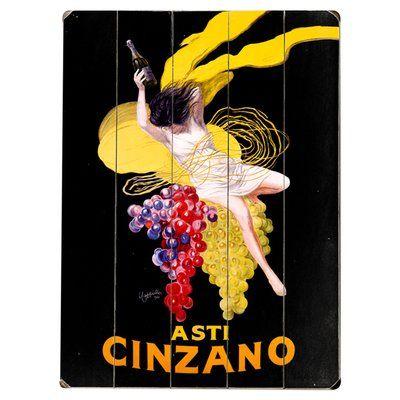 Artehouse LLC Cinzano Asti Vintage Advertisement Multi-Piece Image on Wood