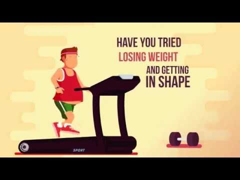 Fitness Sports Weight Loss Flash Animation Powerpoint Template