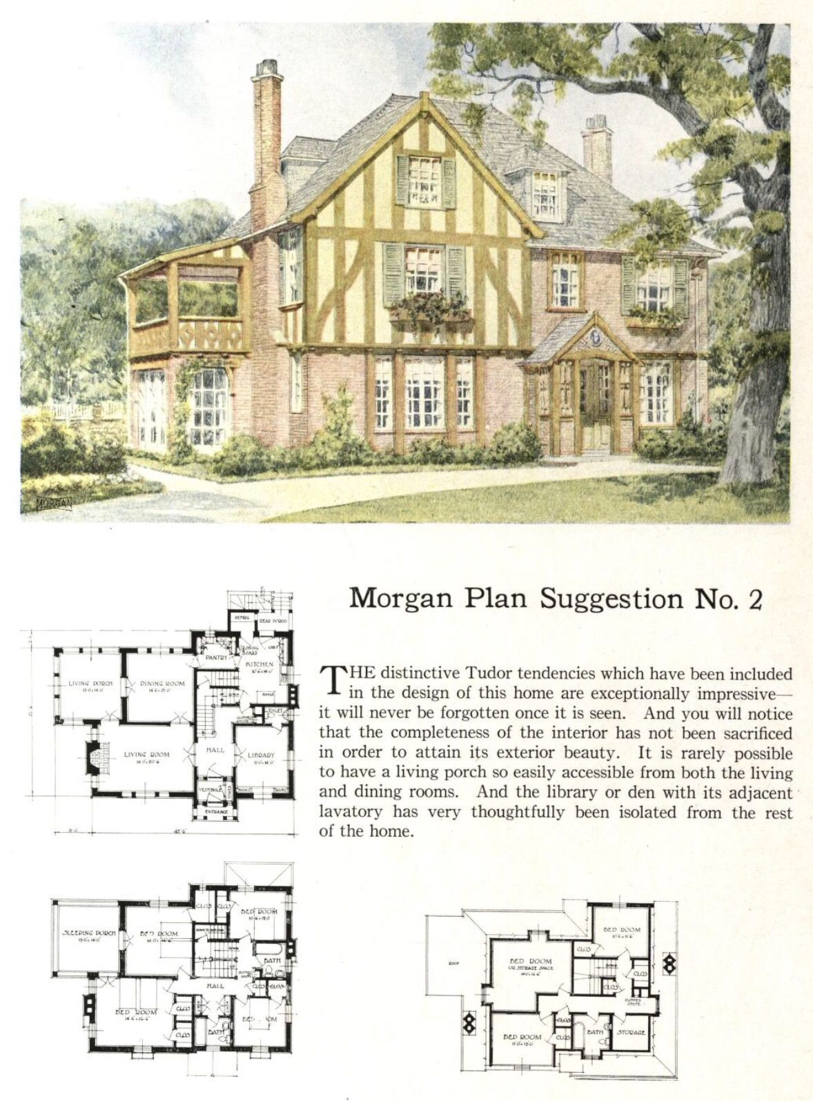 Tudor Style Home Tudor House House Plans Floor Plans