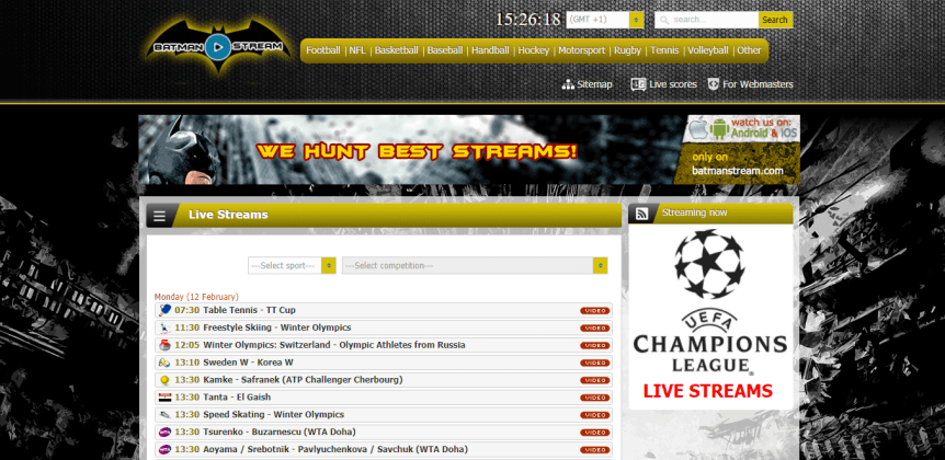 Batmanstream Live Football Match Football Streaming Live Football Streaming