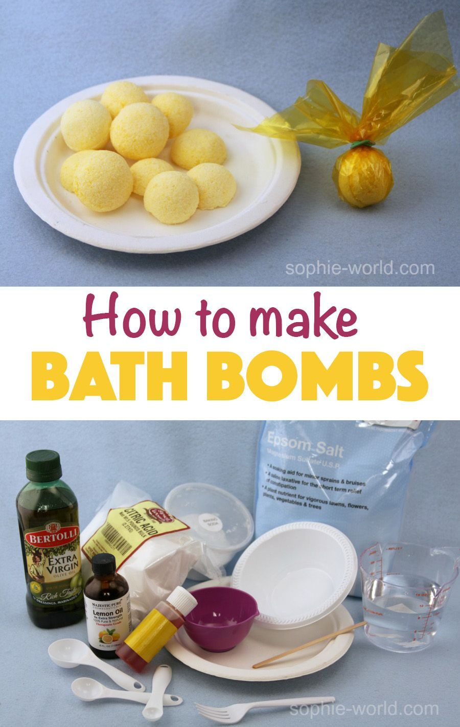 Learn how to DIY your own bath bombs! They're fun and fizzy and smell wonderful. Perfect for an at-home spa day or a present for a friend who needs to...,#bombs #fizzy #learn #perfect #present #smell #wonderful