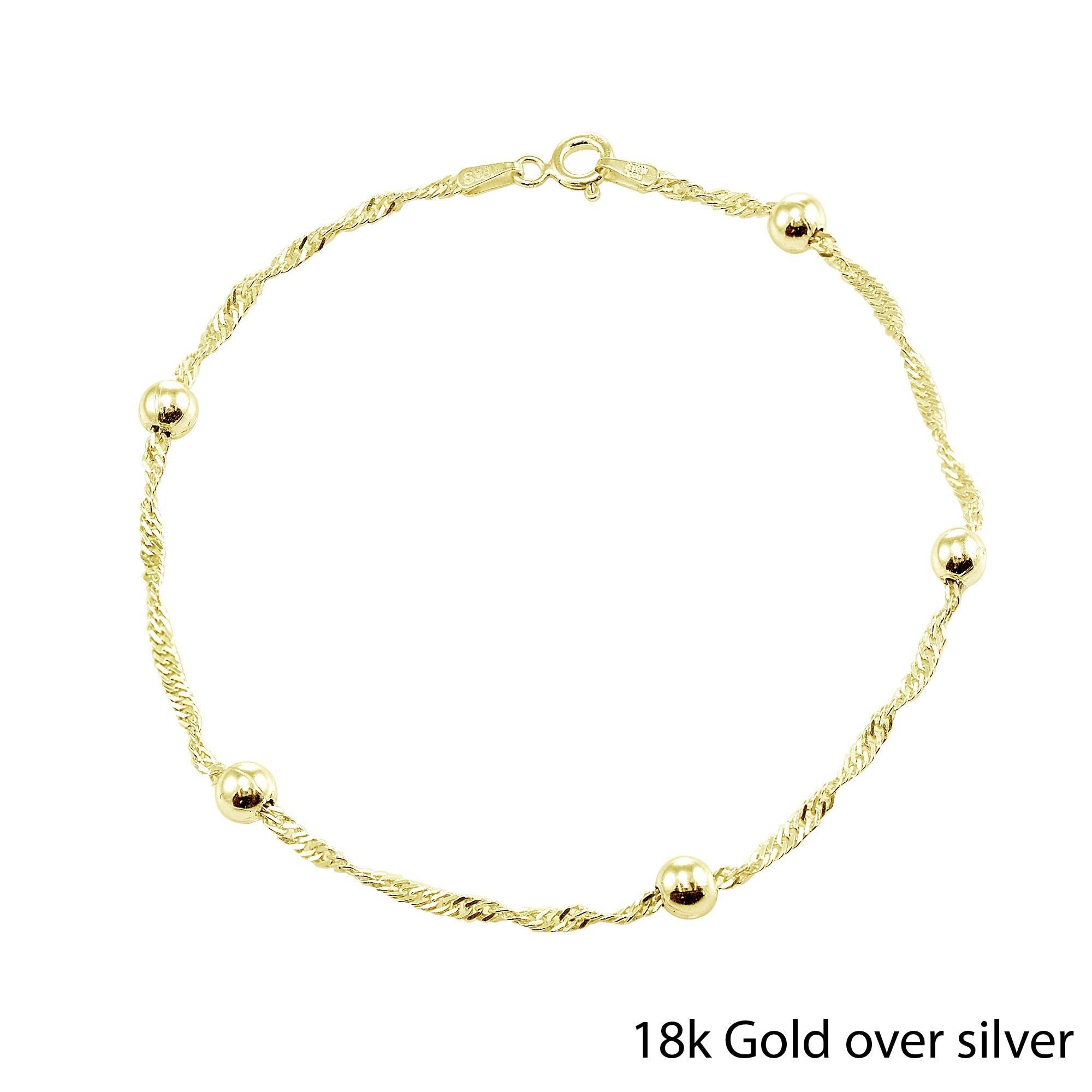 diamond anklets bracelet yellow ankle pin shape fine gold anklet cut heart