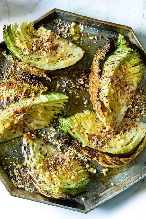 Roasted Savoy Cabbage With Orange Vinaigrette Recipe Roasted Cabbage Cabbage Recipes Thanksgiving Food Sides