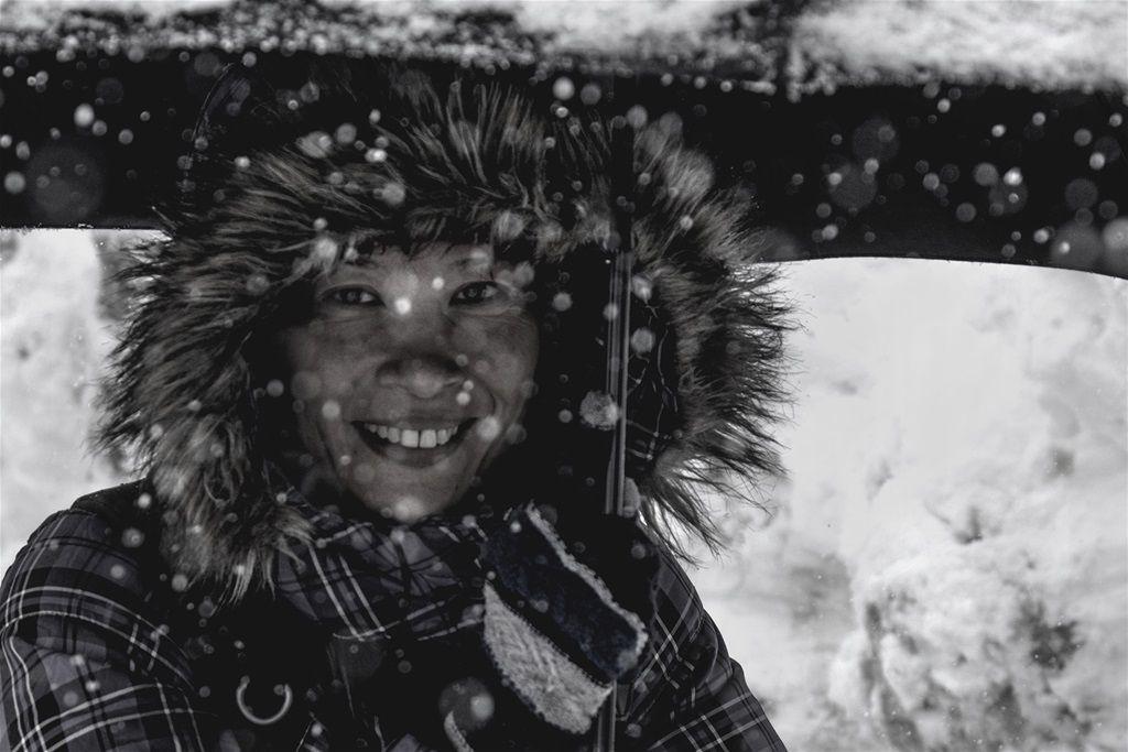 A winter smile