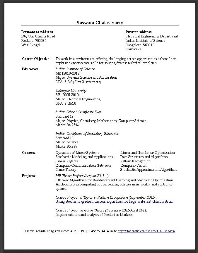 Sample Resume For Fresh Graduate Engineering Pdf Sample Resume