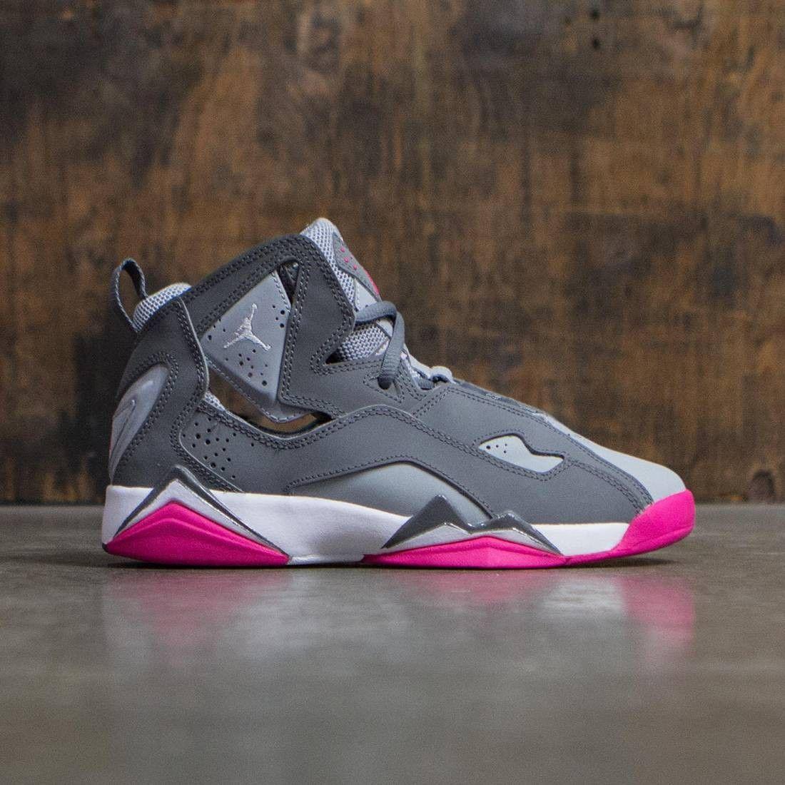 separation shoes 18715 8771c Jordan Big Kids Girls  Jordan True Flight (GS) (cool grey   white-wolf  grey-vivid pink)