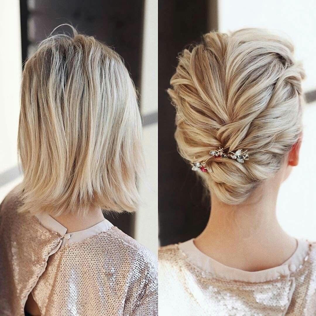 Pin by Jandula Bukovjanojc on Ucesy in 2020   Short wedding hair, Short  hairstyles fine, Short hair styles