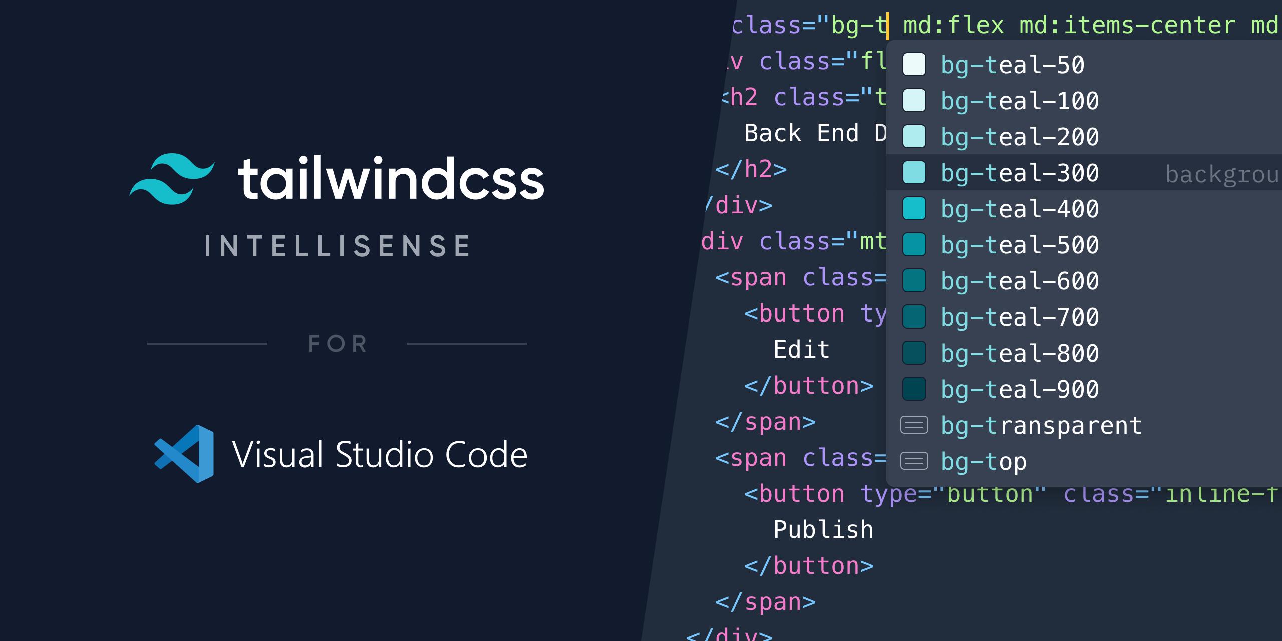 Tailwind Css Intellisense Visual Studio Marketplace Coding Visual Tailwind